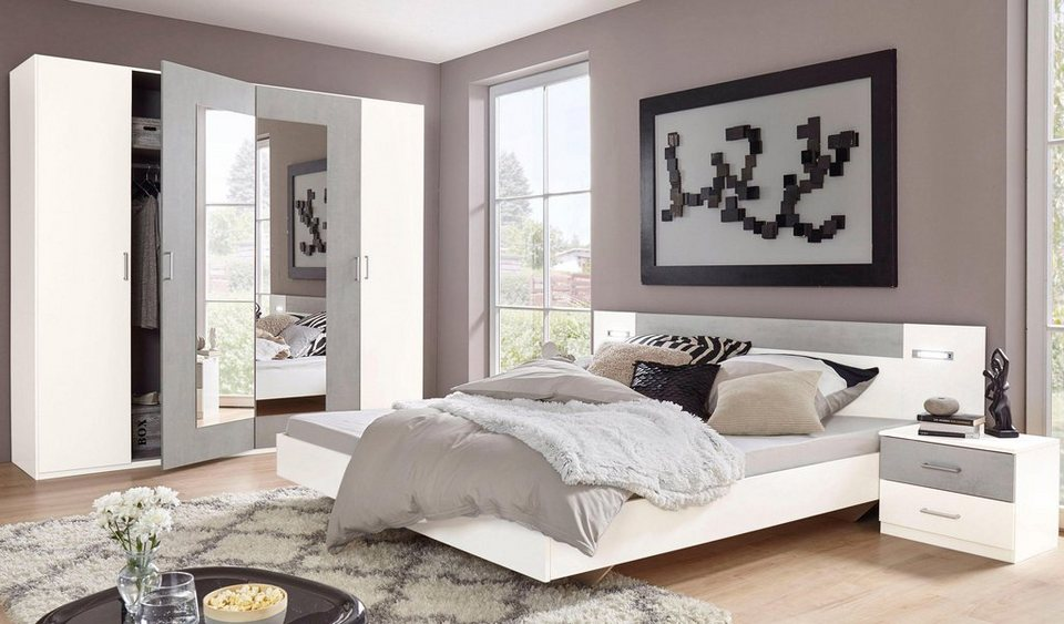 wimex schlafzimmer set angie 4 teilig set aus schrank. Black Bedroom Furniture Sets. Home Design Ideas