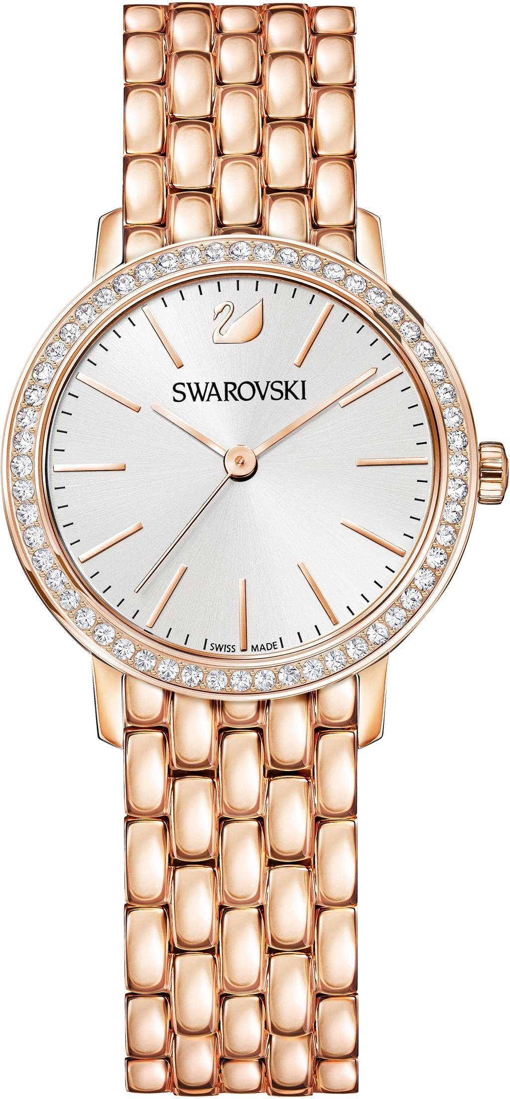 Swarovski Schweizer Uhr »Graceful Mini Uhr, Metallarmband, roséfarben, 5261490«