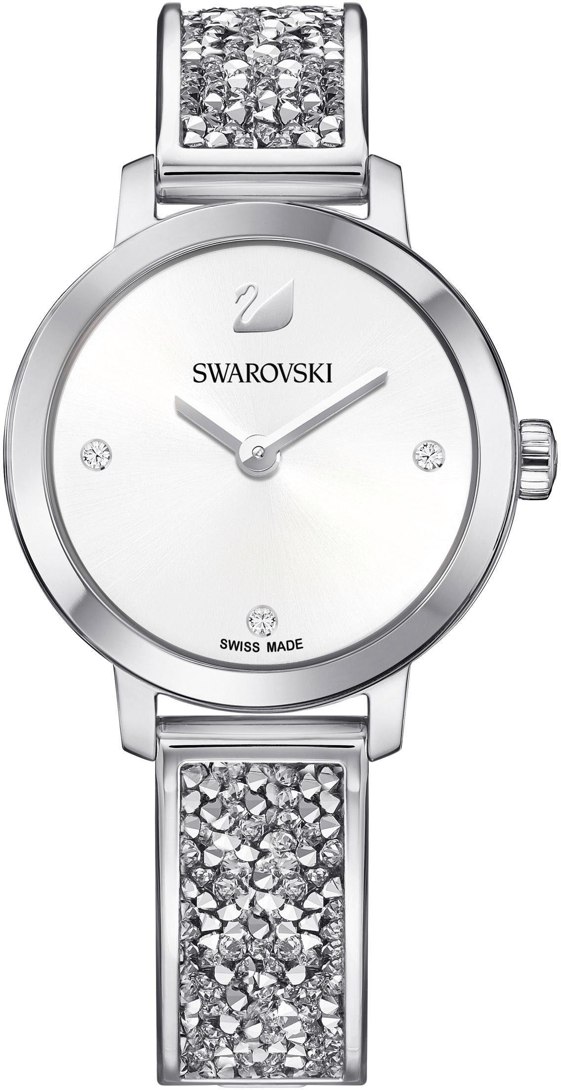 Swarovski Schweizer Uhr »Cosmic Rock Uhr, Metallarmband, weiss, silberfarben, 5376080«