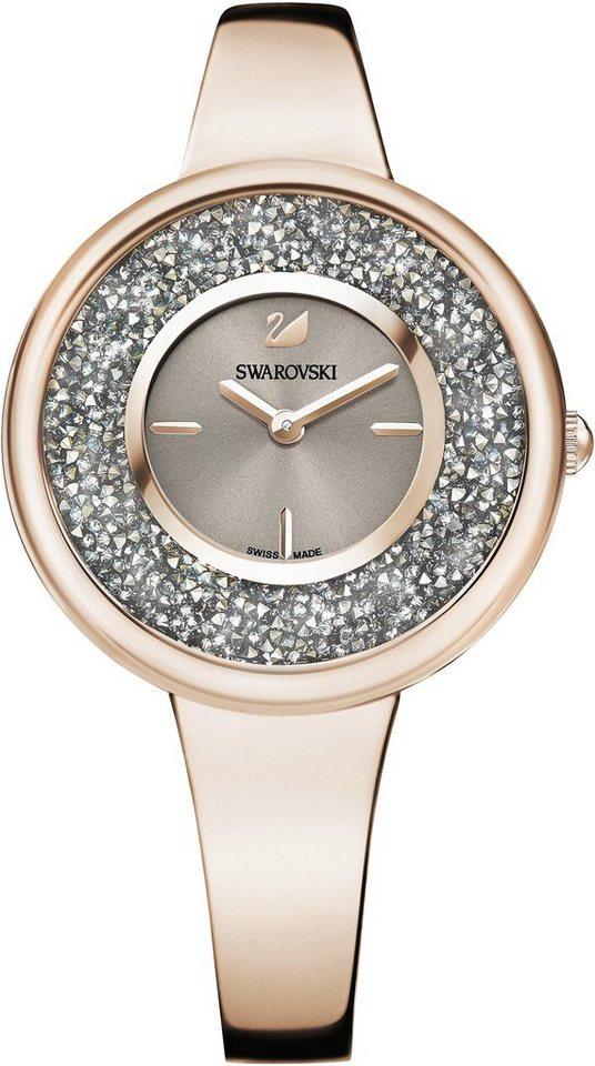 Swarovski Schweizer Uhr »Crystalline Pure Uhr, Metallarmband, Farbton Champagne Gold, 5376077« | Uhren > Schweizer Uhren | Goldfarben | Swarovski