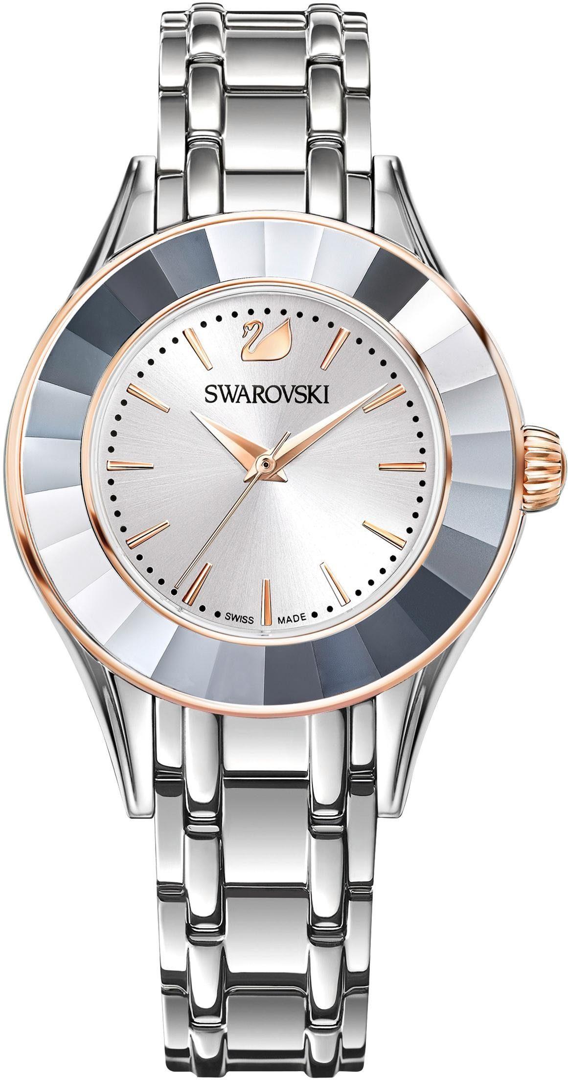 Swarovski Schweizer Uhr »Alegria Uhr, Metallarmband, weiss, silberfarben, 5261664«
