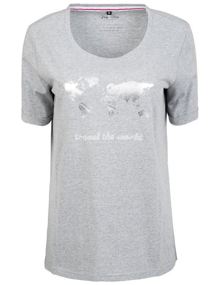fry day t shirt mit pailletten schriftzug kaufen otto. Black Bedroom Furniture Sets. Home Design Ideas