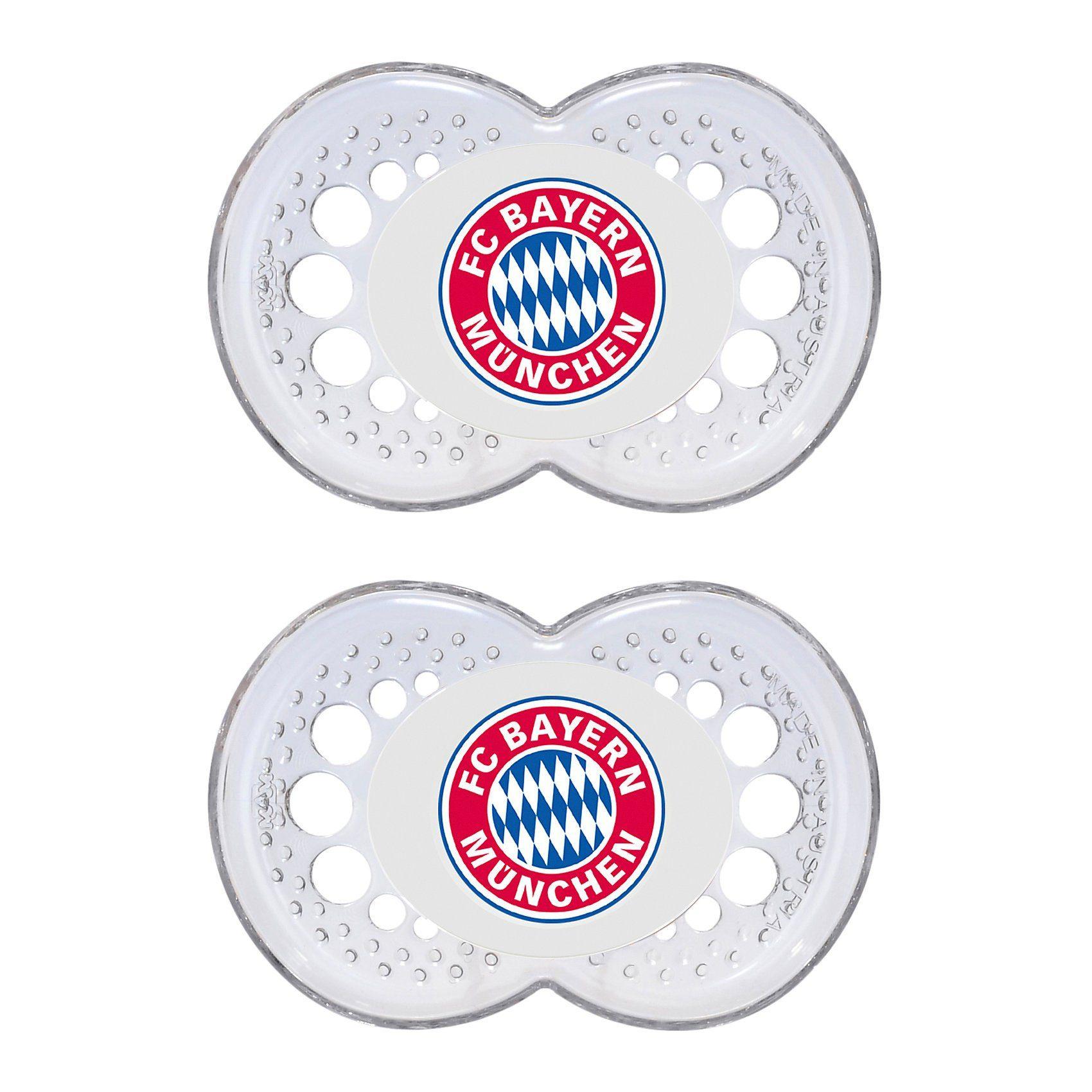MAM Schnuller Fußball, Silikon, Gr. 2, FC Bayern München