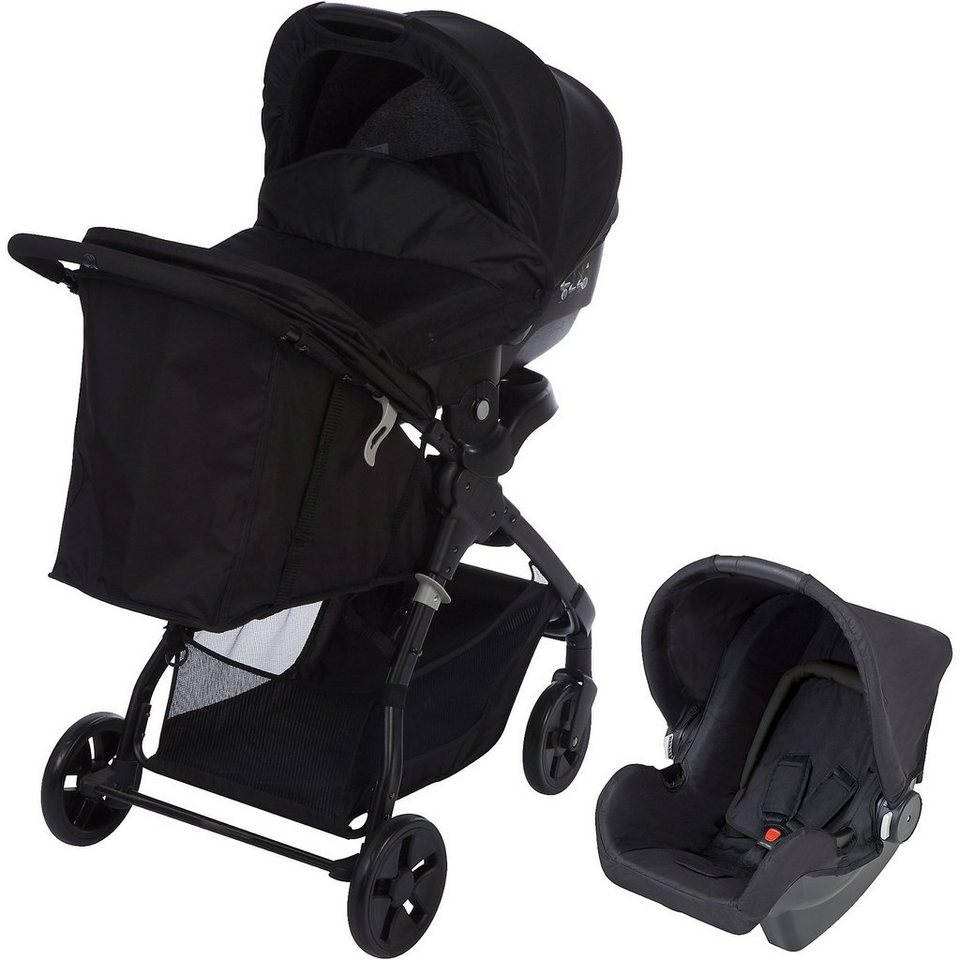 safety 1st kombi kinderwagen amble 3 in 1 full black. Black Bedroom Furniture Sets. Home Design Ideas