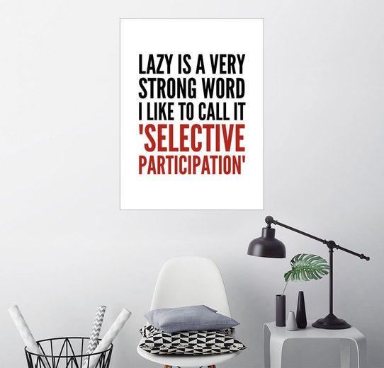 Posterlounge Wandbild - Creative Angel »selective participation«