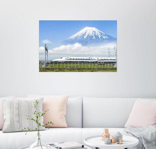 Posterlounge Wandbild - Jan Christopher Becke »Japanischer Shinkansen Schnellzug fährt am Be...«