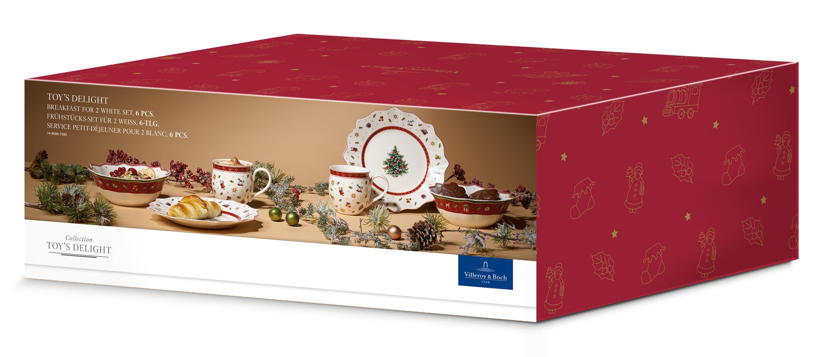 Villeroy & Boch Breakfast for Two, weiß 6-teilig »Toy's Delight«