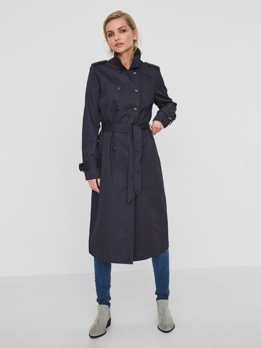 Noisy may Langer Trenchcoat | Bekleidung > Mäntel > Trenchcoats | Polyester | Noisy may