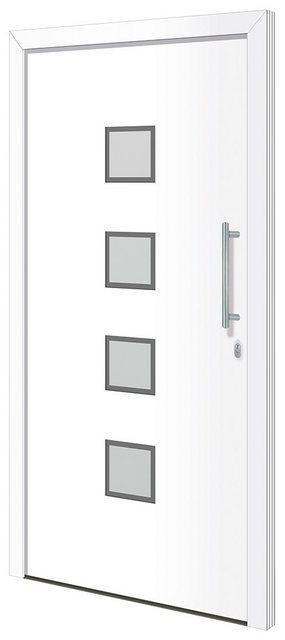 RORO TÜREN & FENSTER Aluminium-Haustür »Otto 6«| BxH: 110x210 cm| weiß| ohne Griff | Baumarkt > Modernisieren und Baün | RORO Türen & Fenster