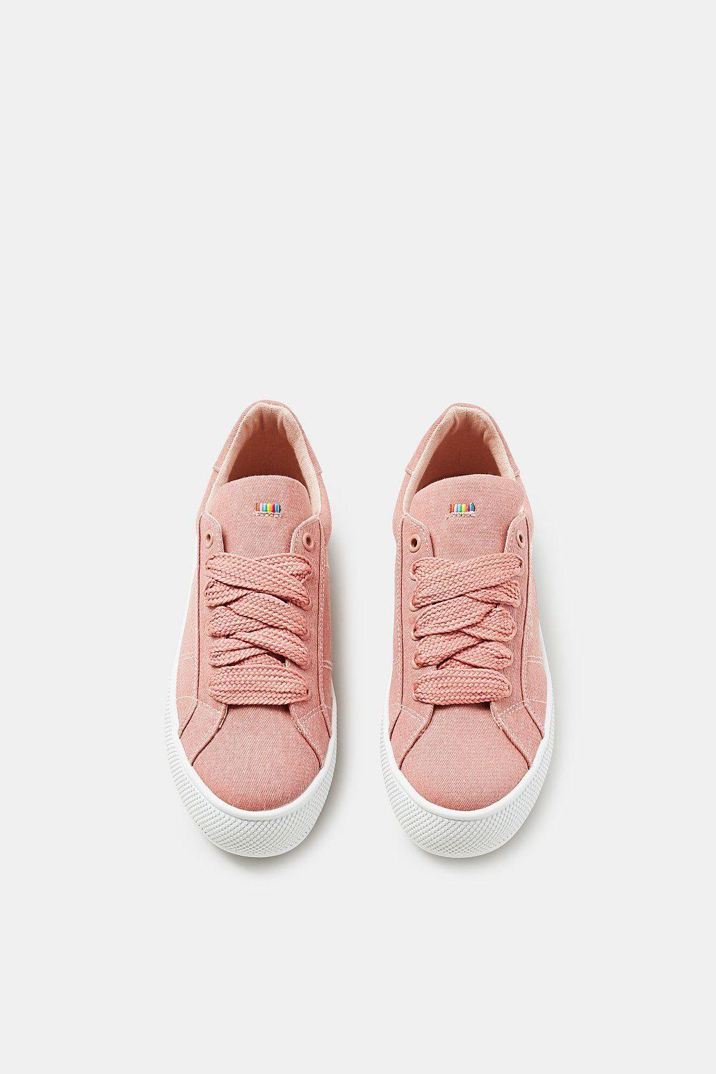 ESPRIT Plateau-Sneaker in Denim-Optik kaufen  OLD PINK