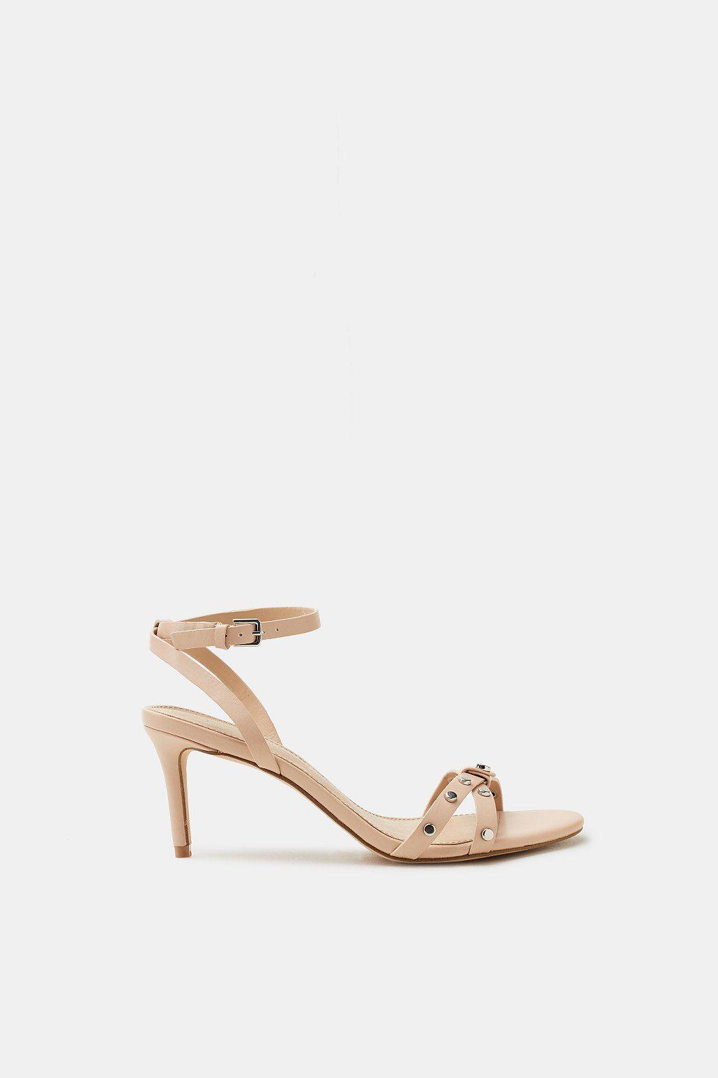 Trendige Sandalette mit Nieten-Dekor für Damen Black Esprit bi13m