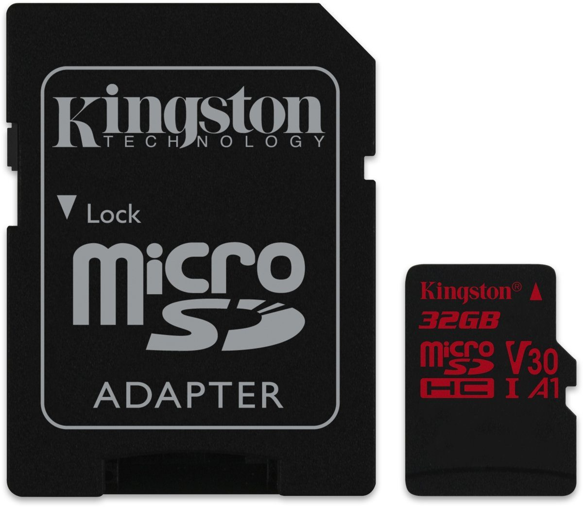 Kingston Speicherkarte »microSD Canvas React 32 GB inklusive Adapter«
