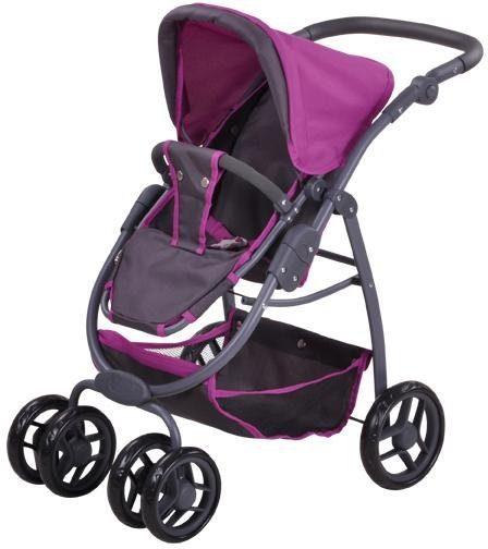 Knorrtoys® Puppenwagen »Coco - tec purple«, 2-in-1
