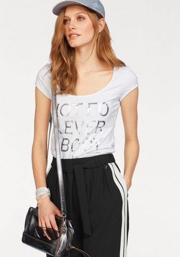 Bruno Banani T-Shirt mit Statement-Print