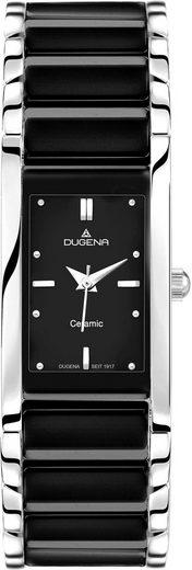Dugena Quarzuhr »Quadra Ceramica, 4460507«