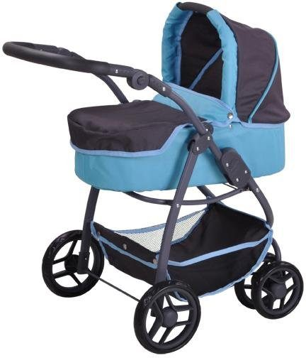 knorr toys Puppenwagen, 2-in-1, »Coco - tec blue«