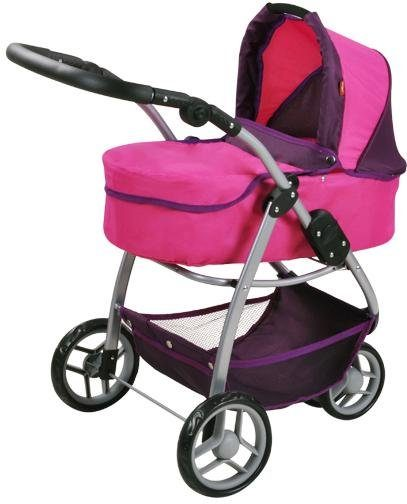 knorr toys Puppenwagen, 2-in-1, »Cico - pink owl«
