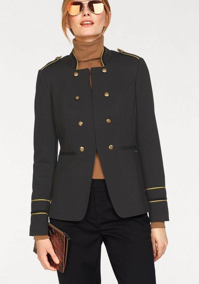 Bruno Banani Longblazer (1-tlg) im Uniform-Look | Bekleidung > Blazer > Longblazer | Schwarz | Bruno Banani