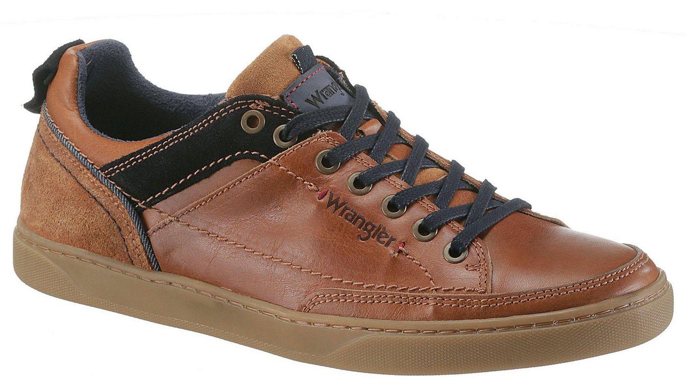Herren Wrangler Jasper Low Sneaker mit Ziernaht an der Laufsohle braun | 08053839765208
