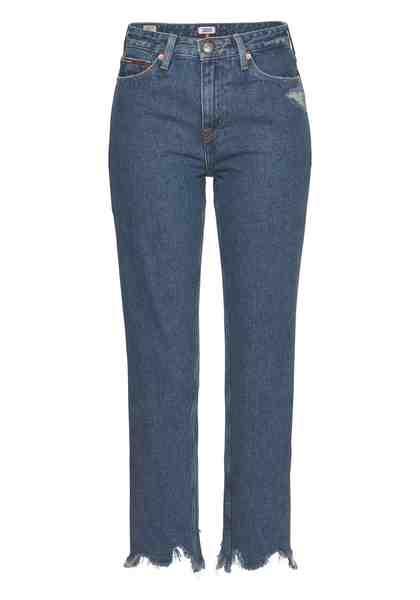 TOMMY JEANS Slim-fit-Jeans »Izzy« mit leicht ausgefranstem Saum