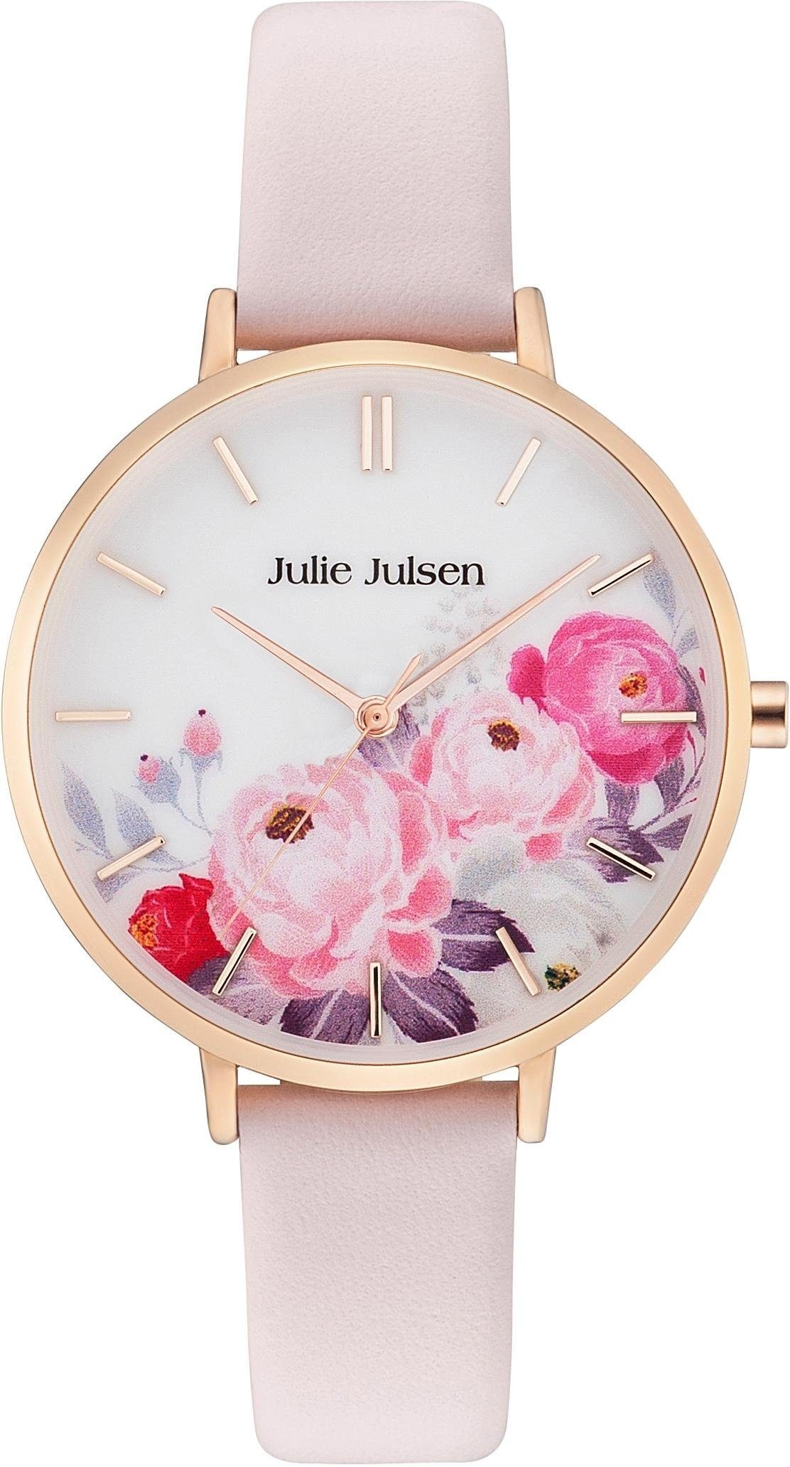 Julie Julsen Quarzuhr »Flower Rosé Light Pink, JJW11RGL-2«