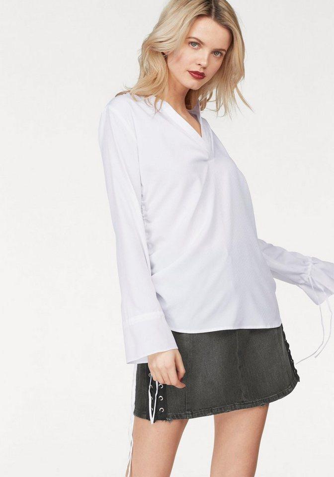 LTB Chiffonbluse »BICABO« | Bekleidung > Blusen > Chiffonblusen | Weiß | Jeans | LTB