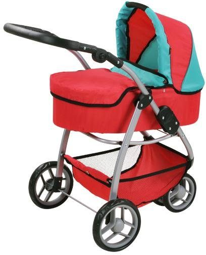knorr toys Puppenwagen, 2-in-1, »Cico - red green«