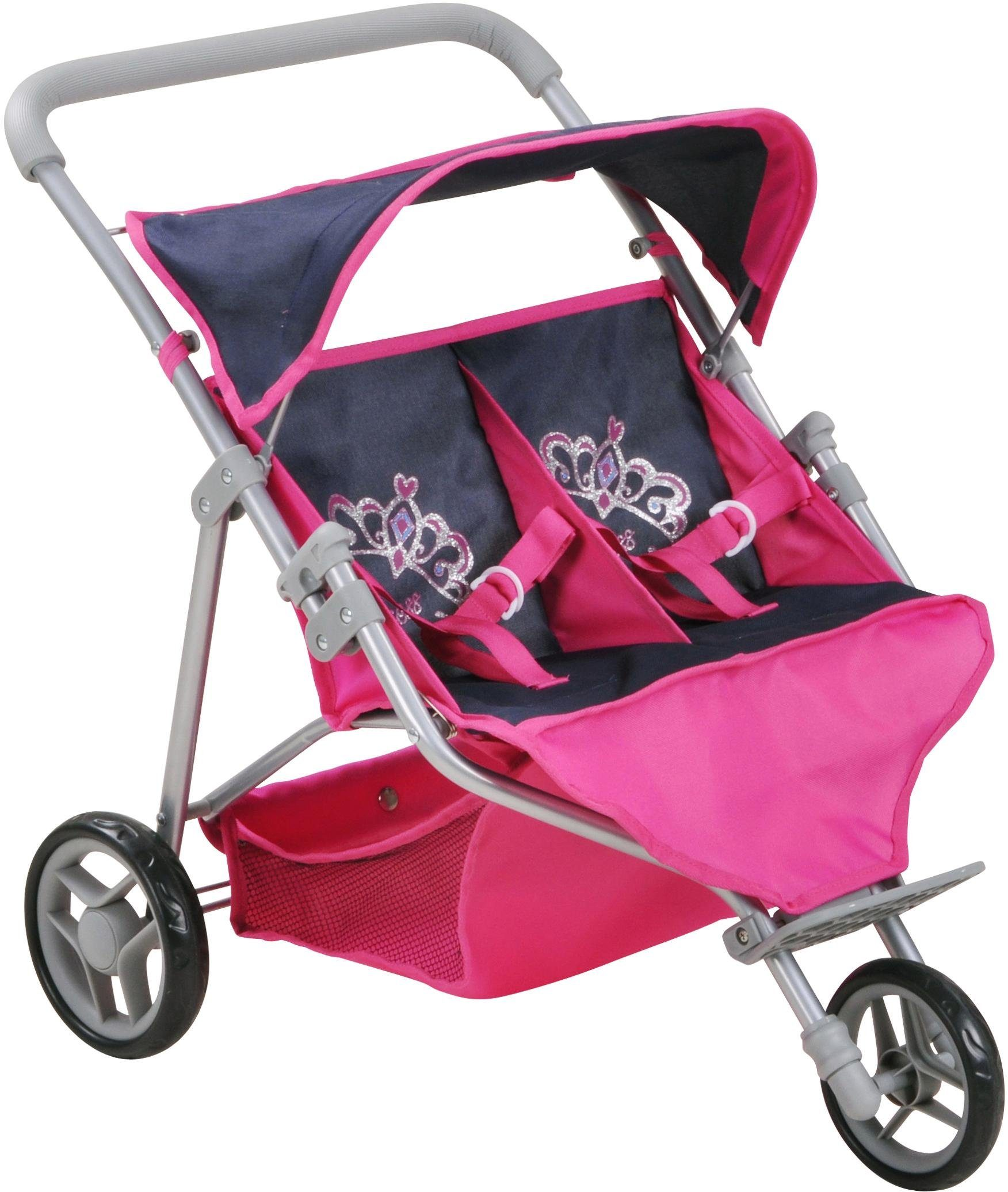 knorr toys Zwillings-Puppenwagen, »Duo - diadem «