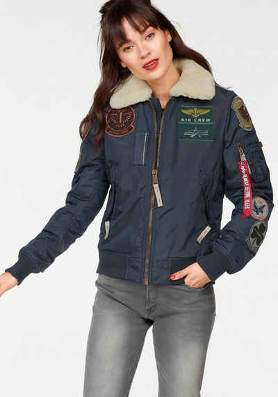 Alpha Industries Bomberjacke »Injector III Patch Wmn« im trendy Piloten-Look a85fbea498