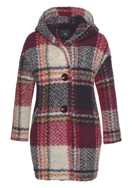 Damen LTB Wollmantel WAYIDA im Colormix-Design rot | 08697600726120