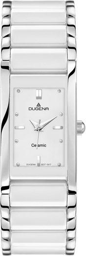Dugena Quarzuhr »Quadra Ceramica, 4460506«