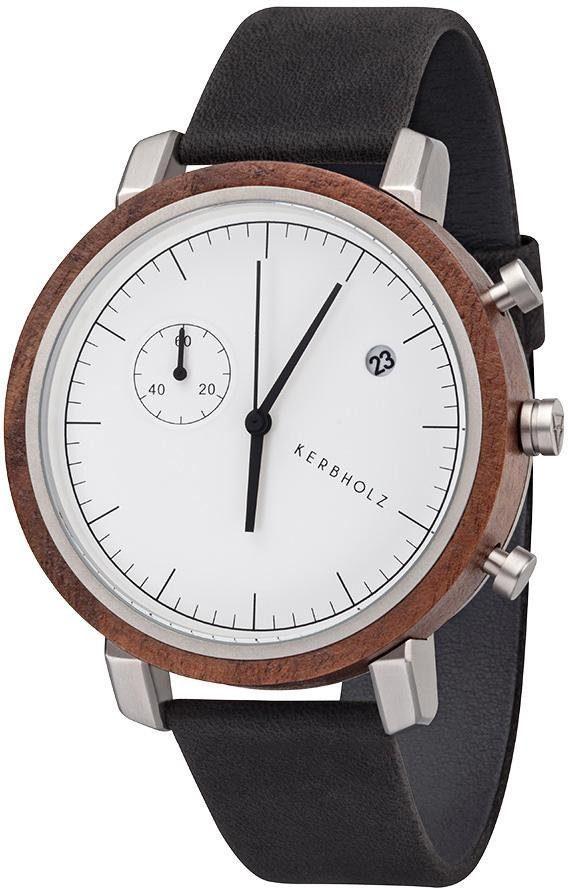 KERBHOLZ Chronograph »Franz Walnut/ Slate Grey«