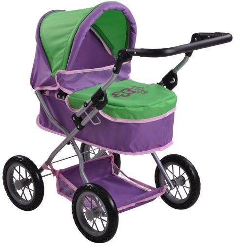 knorr toys Puppenwagen, »First - plum and green«
