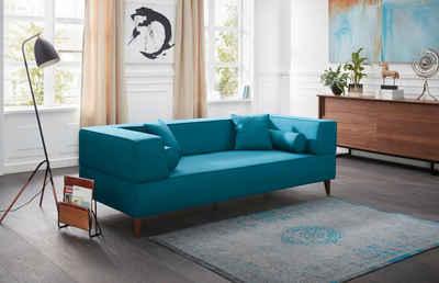 Schön Alte Gerberei 3 Sitzer Sofa »Marten« Mit Breiten Lehnen, Inklusive  Zierkissen U0026