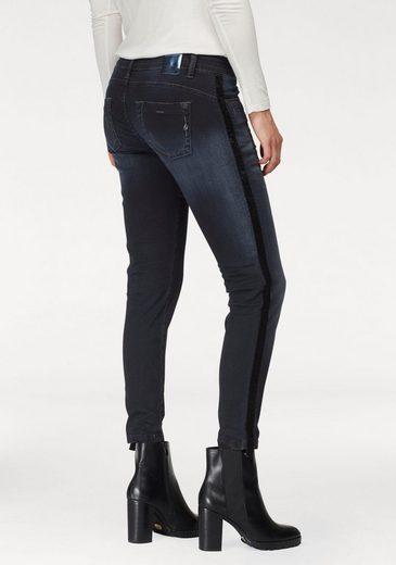 BLUE FIRE Skinny-fit-Jeans »ALICIA« mit Velvet-Seitenstreifen