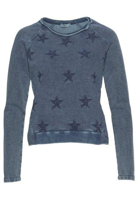 Damen LTB Sweatshirt ROJILO mit Sternen blau | 08697600694115
