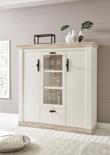 home affaire highboard florenz im romantischen landhaus look breite 140 cm online kaufen otto. Black Bedroom Furniture Sets. Home Design Ideas