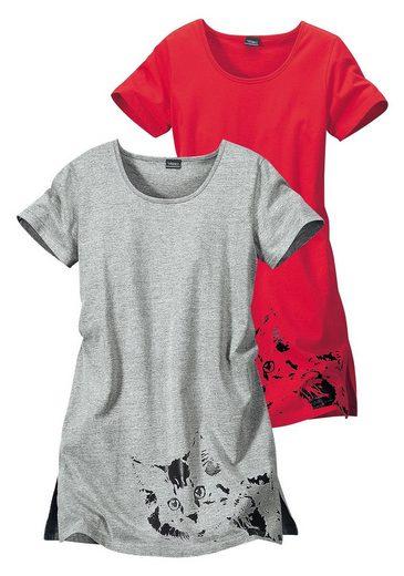 Vivance Dreams Nachthemden (2 Stück) mit Katzenprint