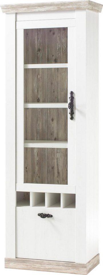 home affaire vitrine florenz im romantischen landhaus look h he 201 cm online kaufen otto. Black Bedroom Furniture Sets. Home Design Ideas