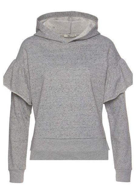 Damen LTB Sweatshirt FEJABO mit Rüschen am Ärmel grau | 08697600694320