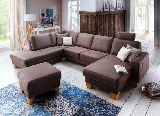 Premium collection by Home affaire Wohnlandschaft »Teramo«, wahlweise mit motorischer Relaxfunktion und Schlaffunktion