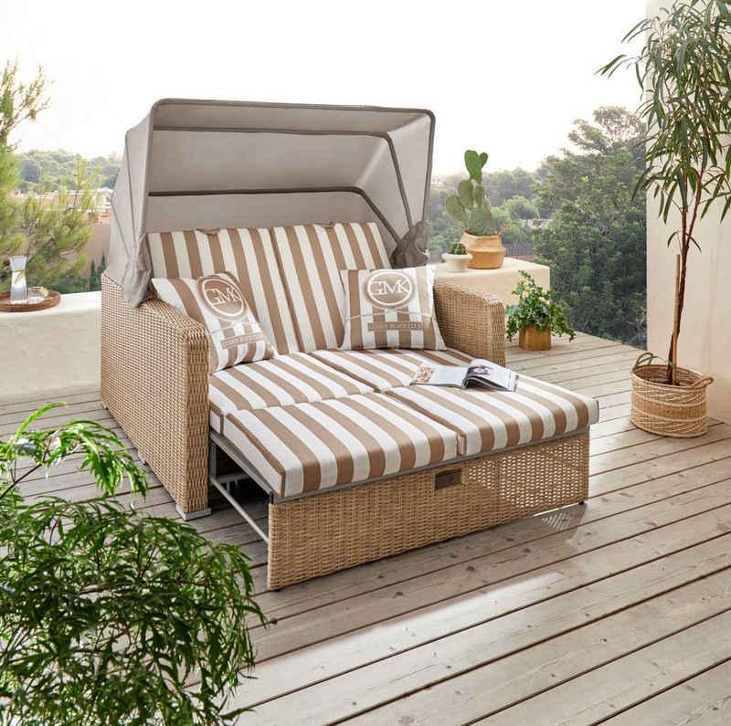 Guido Maria Kretschmer Home&Living Loungesofa »Norderney«, 8 Teile, BxLxH: 146x140x78 cm, Strandkorb