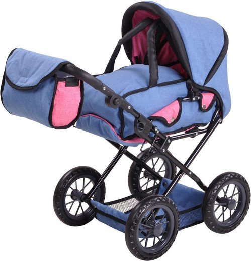 Knorrtoys® Puppenwagen »Ruby - jeans blue«