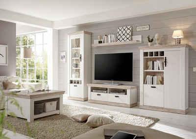 Home affaire Wohnwand »Florenz 6«, (Set, 4-St), im romatischen Landhauslook