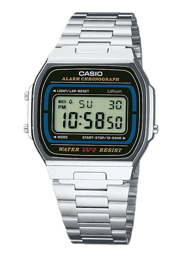 Casio Collection Chronograph »A164WA-1VES« in silberfarben