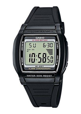 Casio Collection Chronograph »W-201-1AVEF« in schwarz