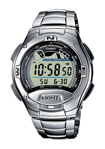 Casio Collection Chronograph »W-753D-1AVES« in silberfarben
