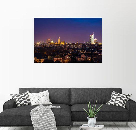 Posterlounge Wandbild - Martin Wasilewski »Leipziger Skyline«