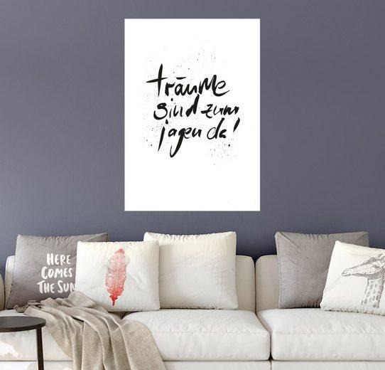 Posterlounge Wandbild - Formart - Zeit für Schönes! »träume sind zum jagen da«