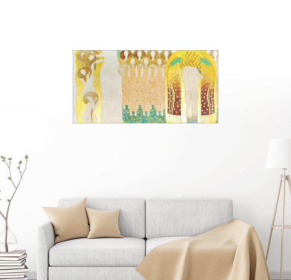 Posterlounge Wandbild - Gustav Klimt »Diesen Kuss der ganzen Welt«